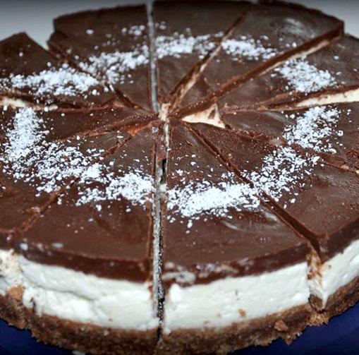 R-1075 Raw čokoládovo-kokosový dort