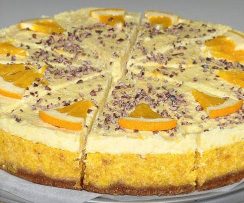 R-1081 Raw pomerančový dort