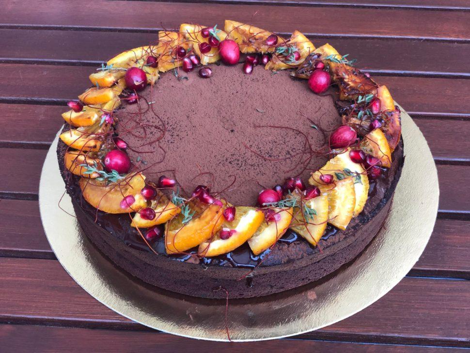 BZ10-Čoko dort spomerančem achilli